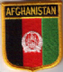 Afghanistan Embroidered Flag Patch, style 07.